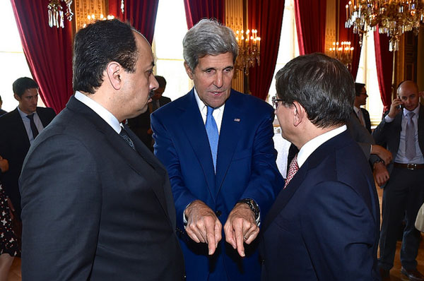 John Kerry gets together with Foreign Ministers of Qatar and Turkey to produce Hamas-friendly cease fire proposal