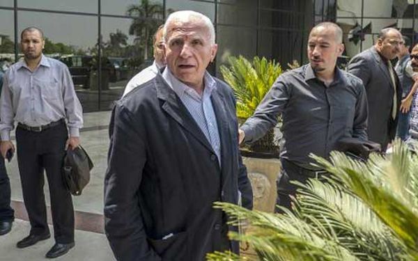 Chief Fatah negotiator Azzam al-Ahmed at indirect Israel/Hamas talks, Cairo