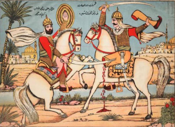 The Battle of the Trench in 627, in which Mohammad successfully defended Medina against the Jews and their Arab allies by digging a trench.