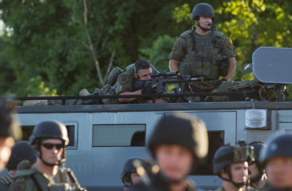 Police in Ferguson, Missouri (courtesy NY Times)