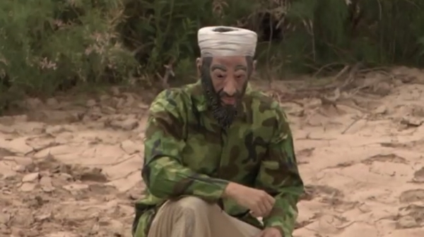 Right-wing provocateur James O'Keefe sneaks across Mexican border into US wearing a Bin Laden mask