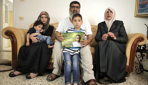 The family of dead murderer Amer Abu Aisheh.