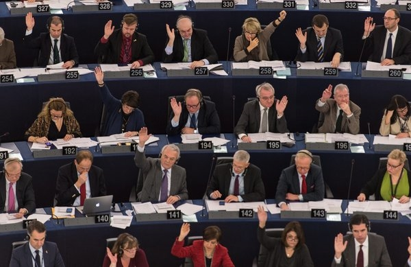 "The EU Parliament votes yesterday that it ""supports in principle recognition of Palestinian statehood and the two-state solution, and believes these should go hand in hand with the development of peace talks, which should be advanced."""