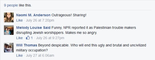 Ariel Gold FB comments