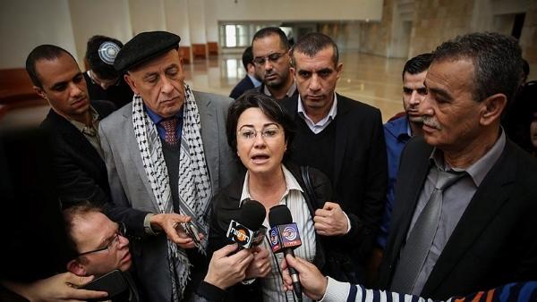 Basel Ghattas (l), Haneen Zoabi and Jamal Zahalka
