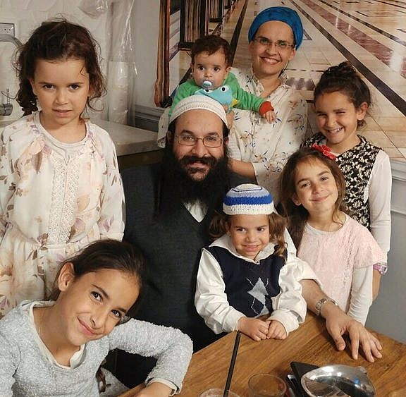 "Rabbi Raziel Shevach, Hy""d, with his family"